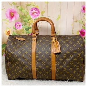 Authentic Louis Vuitton Monogram Keepall 45 Travel